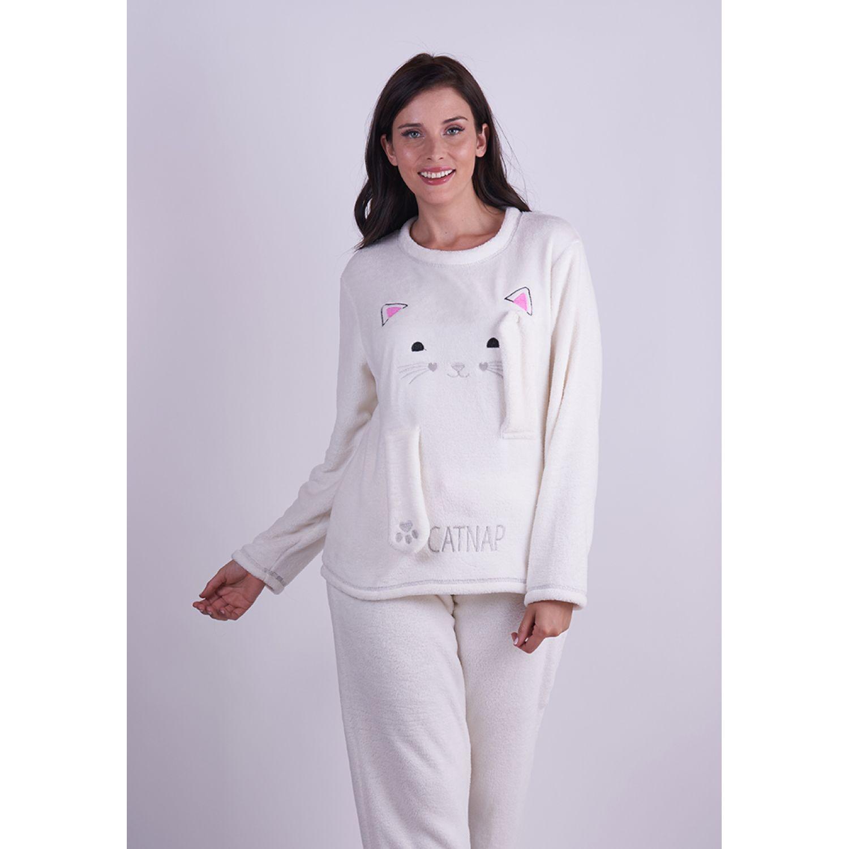 Kayser Pijama Coral Fleece 60.1284 CREMA Camisones y camisetas de dormir