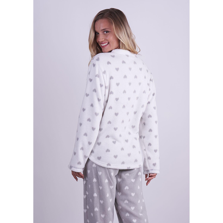 Kayser Pijama Coral Fleece 60.1285 GRIS Camisones y camisetas de dormir