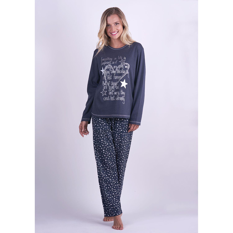 Kayser PIJAMA ALGODÓN 60.1252 AZUL Pijamas y Camisetas de Dormir