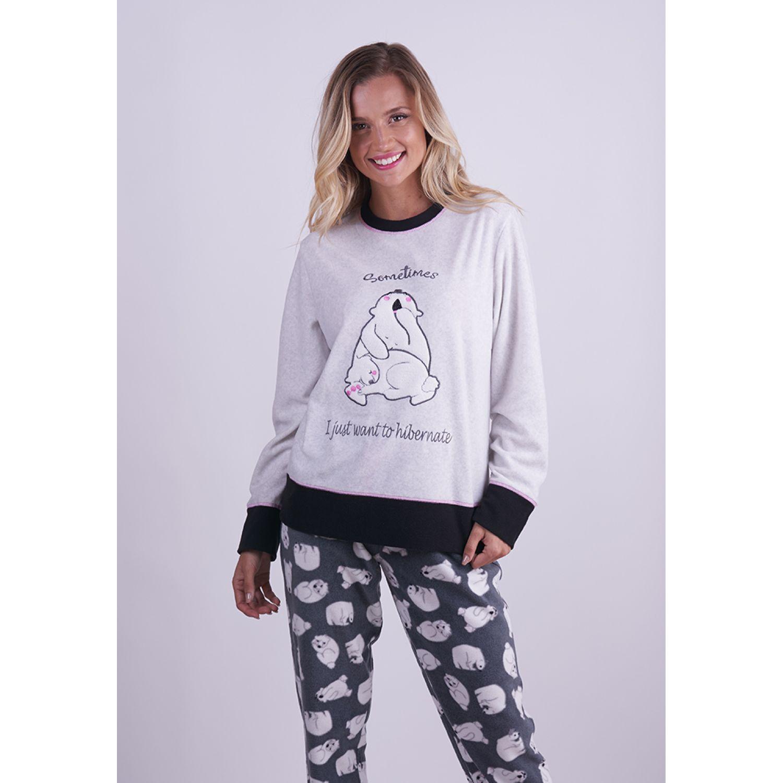 Kayser Pijama Polar 60.1258 GRIS Pijamas y Camisetas de Dormir