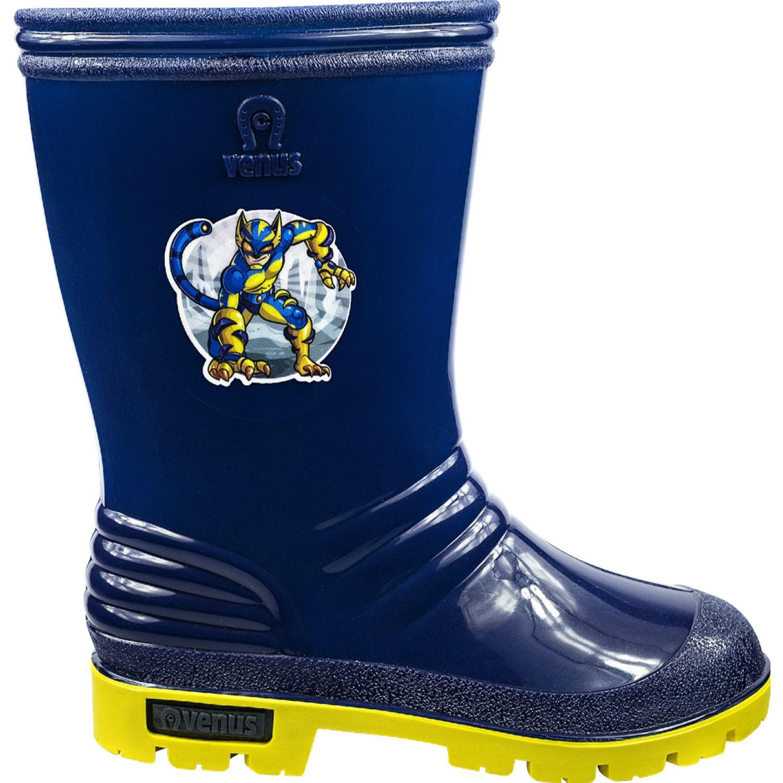 VENUS Stk Tigre Azul / amarillo Botas para lluvia