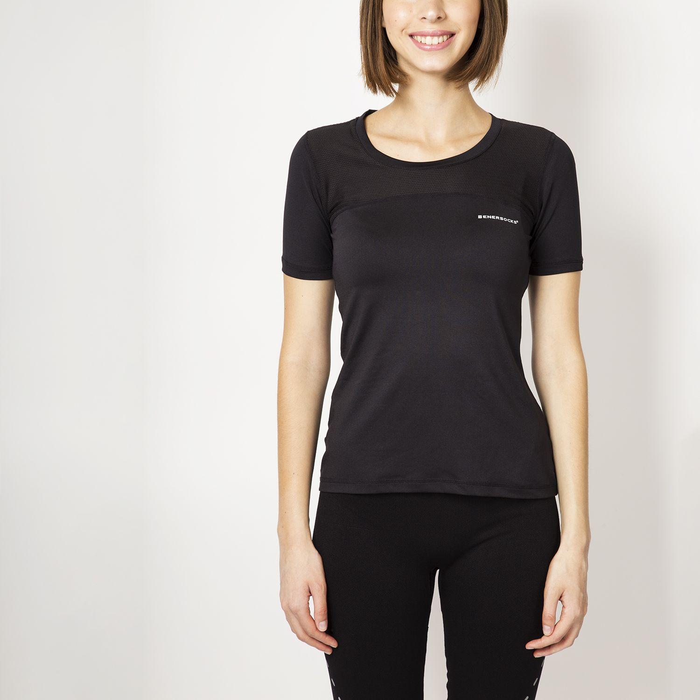 ENERSOCKS Camiseta Deportiva Microfibra Neg Negro Camisetas y polos deportivos