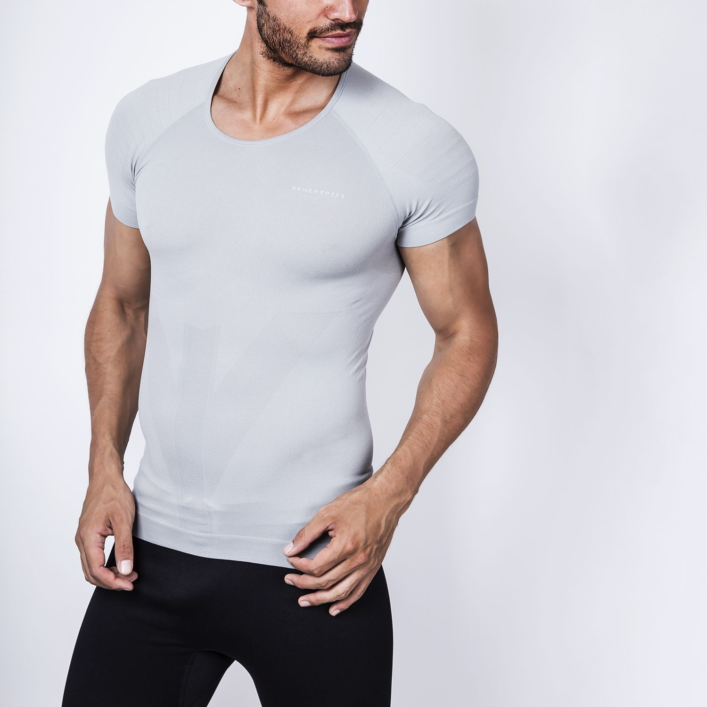 ENERSOCKS Camiseta Deportiva Seamless Gr Gris Camisetas y polos deportivos