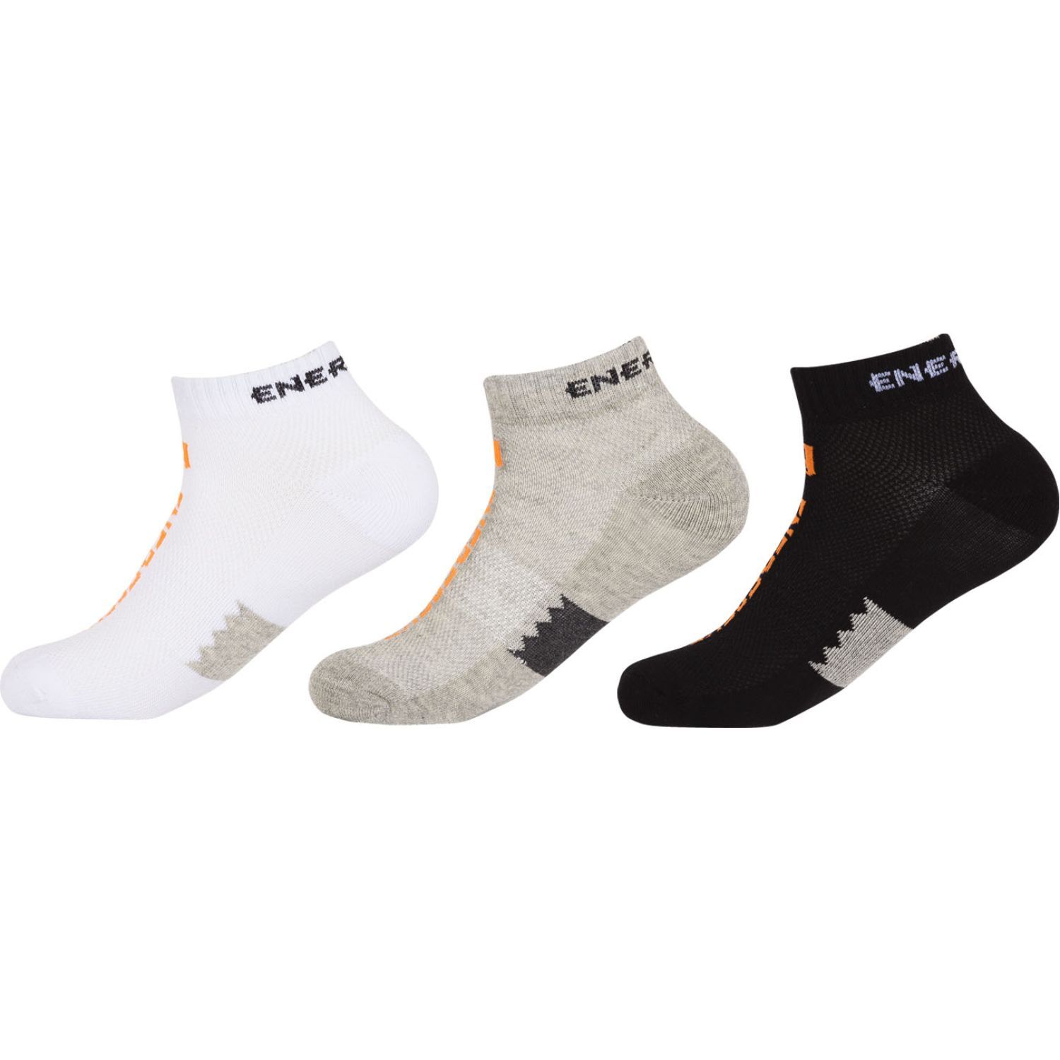 ENERSOCKS Pack 3 Calcetines  Ped BLANCO/NEGRO/GRIS Calcetines
