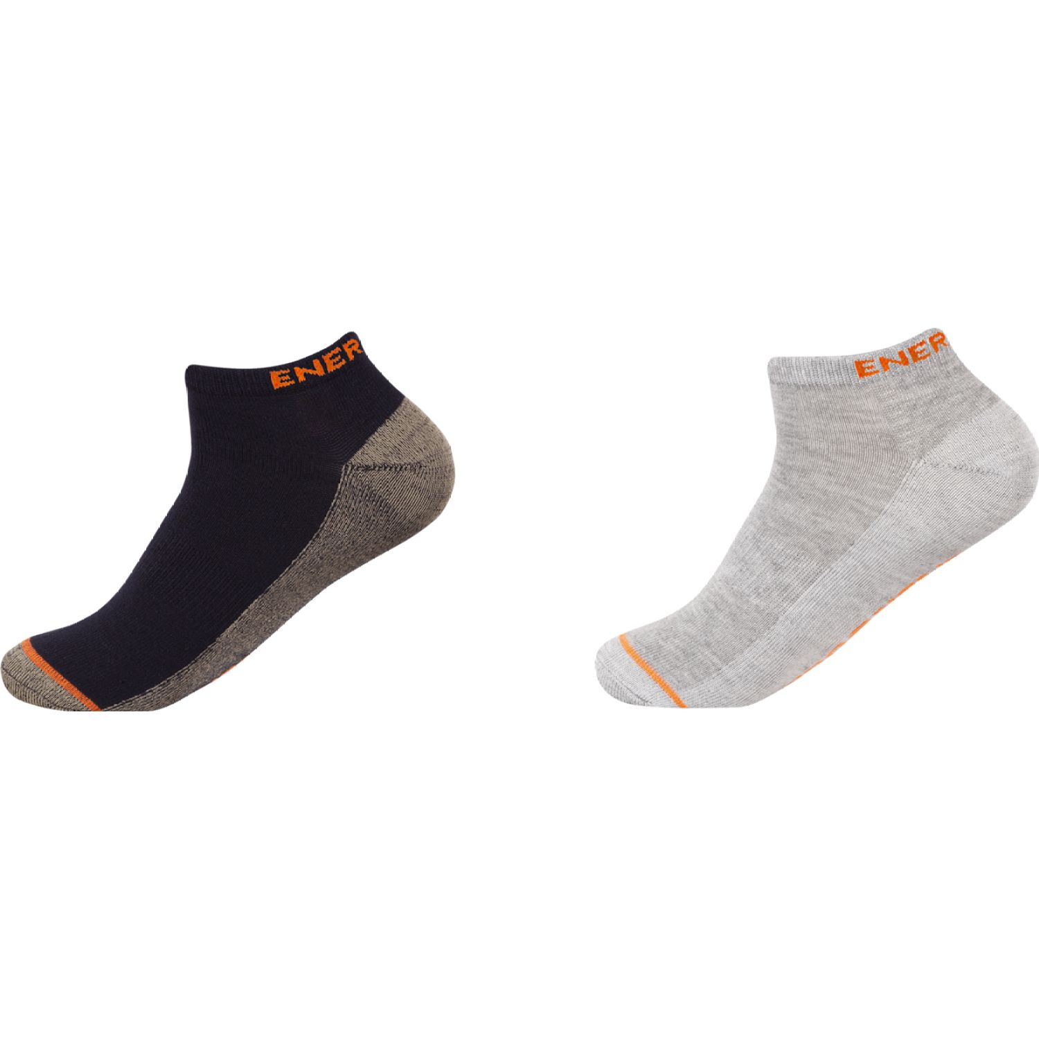 ENERSOCKS PACK 2 CALCETINES PED BAMBOO-COBRE NEGRO / GRIS Calcetines