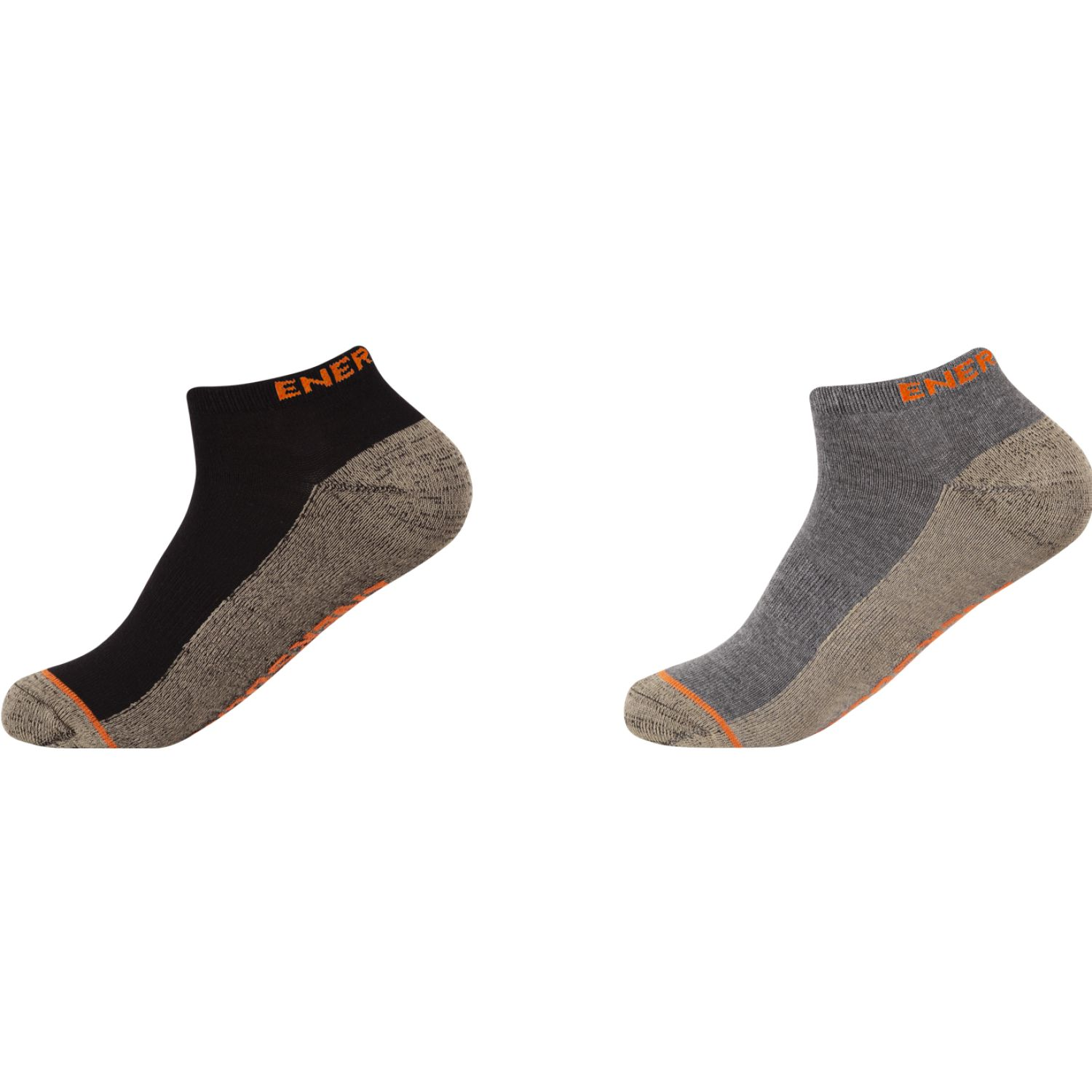 ENERSOCKS Pack 2 Calcetines Ped Bamboo-Cobre Gris / gris Calcetines