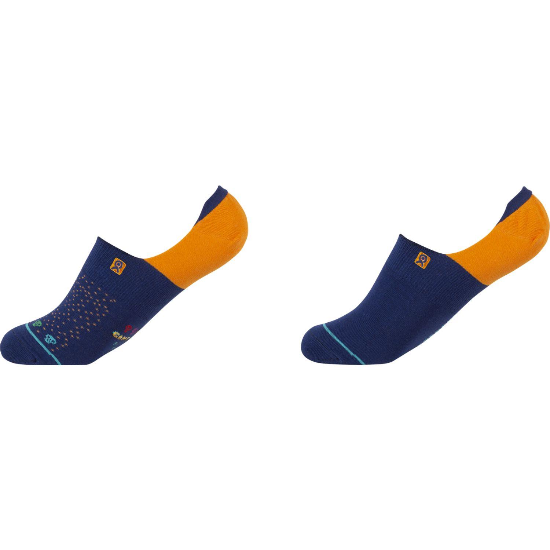 ENERSOCKS Cal 80840d04 Pack 2 Invisible Azulino / naranja Calcetines