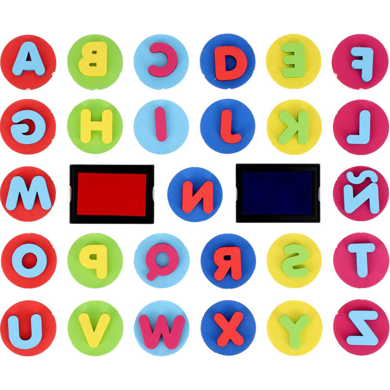 Casaideas sellos abecedario MULTICOLOR Pegamento, pegar y cinta