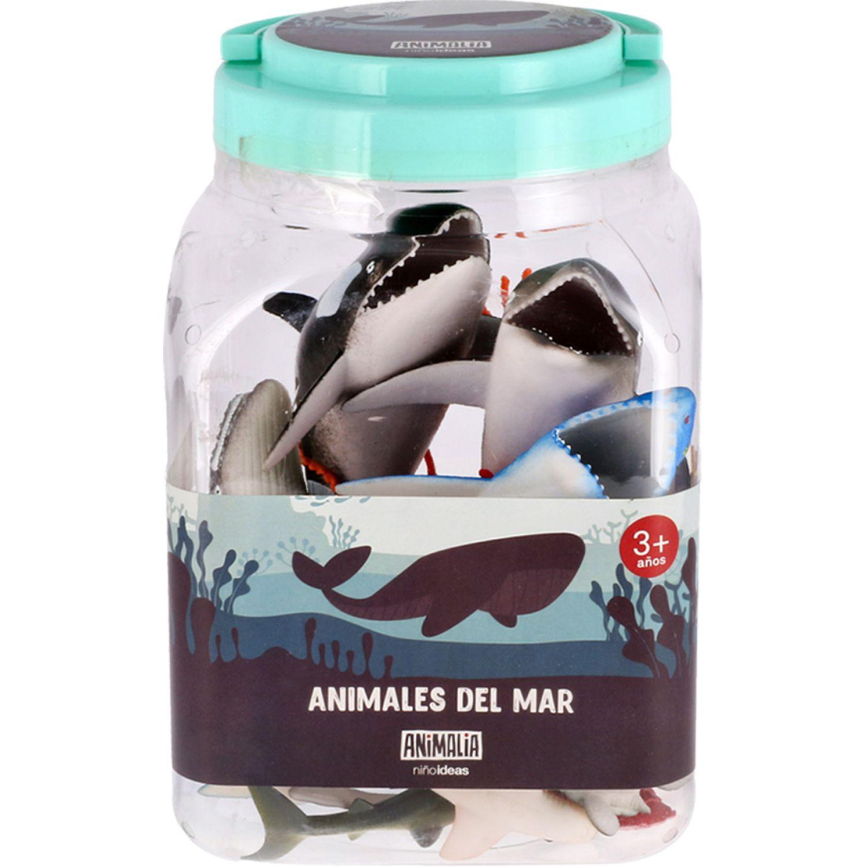 Casaideas Set  Animales del Mar de Plastico MULTICOLOR Animales de peluche y los osos de peluche