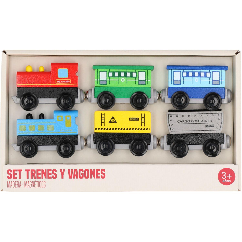 Casaideas Set 6Trenes Magneticos MULTICOLOR Juegos de trenes