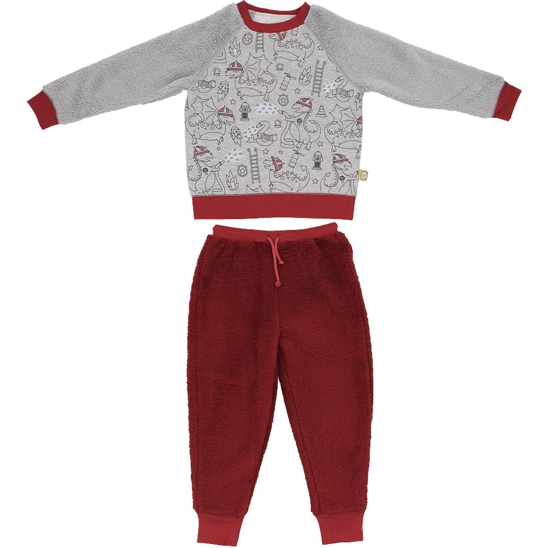 Casaideas pijama dinosaurios rojo/gris Rojo / gris Sets de Pijama