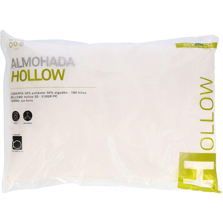 Casaideas Almohada Hollow P/C 50x70 Blanco almohadas de la cama