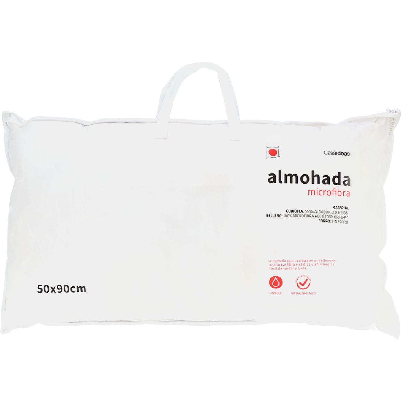 Casaideas Almohada Microfibra 50x90 Blanco almohadas de la cama