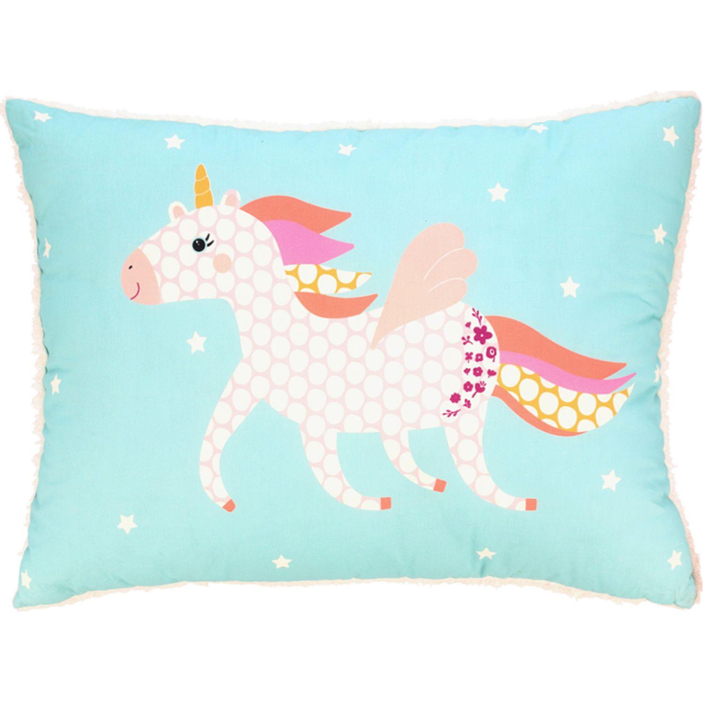 Casaideas Almohadon Estampado Cordero Unicornio MULTICOLOR Las almohadas decorativas