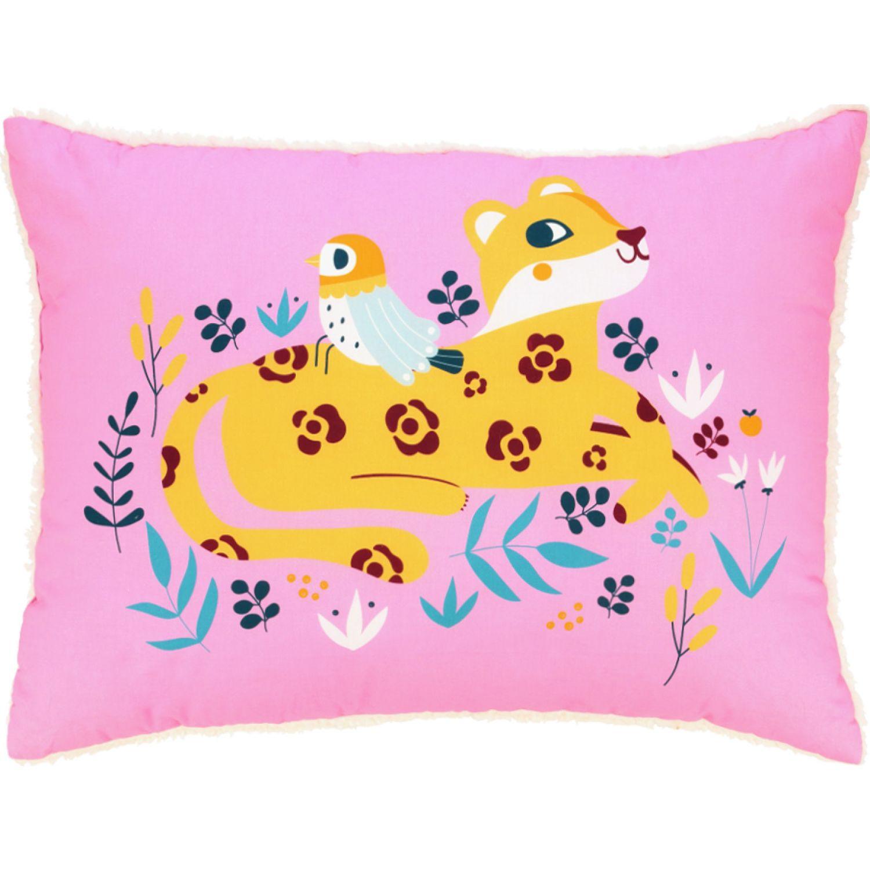 Casaideas Almohadon Estampado Cordero Leopardo MULTICOLOR Las almohadas decorativas