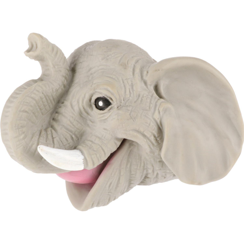 Casaideas Titere Goma Elefante Gris felpa Títeres