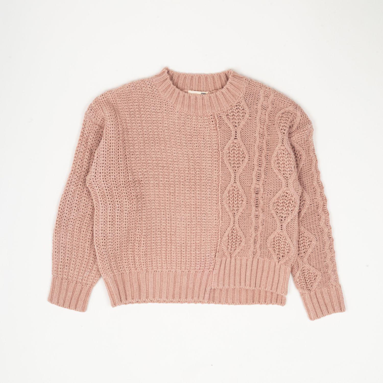Colloky Sweater Tejido Mixto Swla0830 Rosado Hoodies y sudaderas de moda