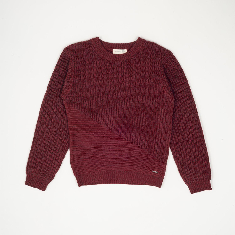 Colloky Sweater Bloques Swla0782 Vino Abrigos de plumas y alternativos