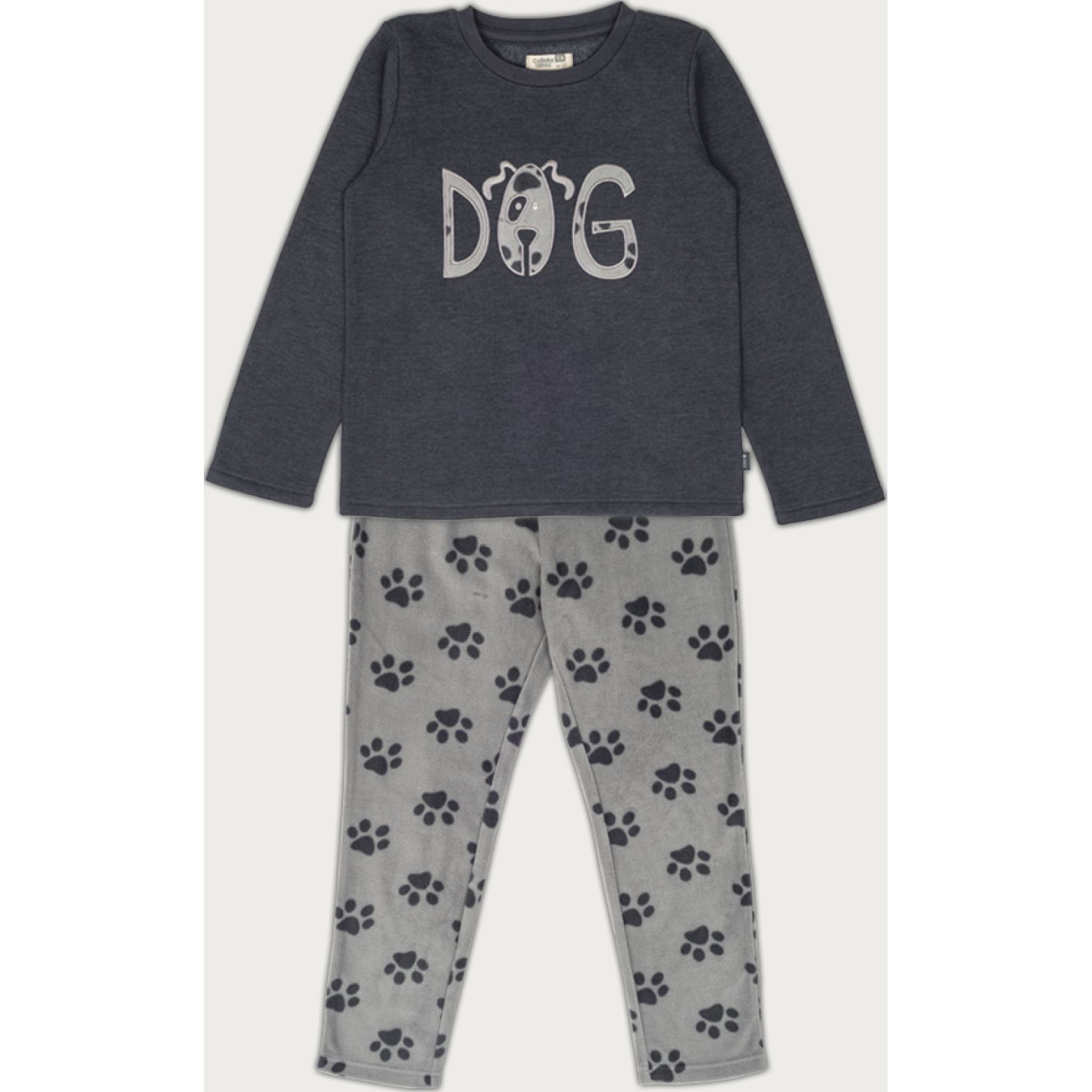 Colloky PIJAMA KID BOY DOG PJPF0711 Gris Sets de Pijama