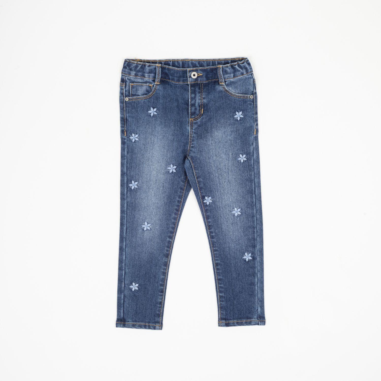 Colloky Jeans Flores Bordadas Jeme1850 Denim Pantalones
