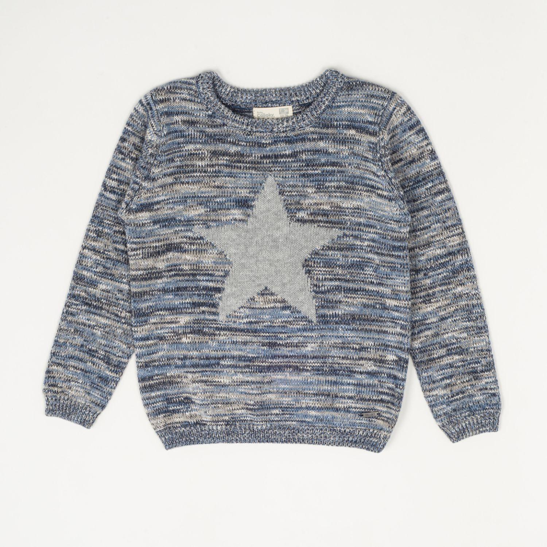 Colloky Sweater Jaspeado Estrella Swla2740 Gris Suéteres