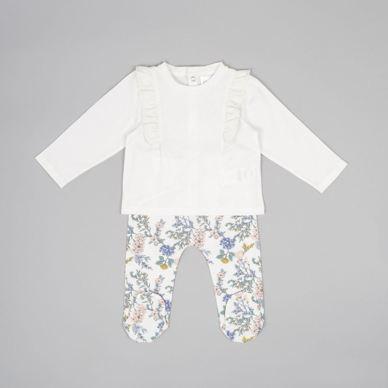 Colloky Conjunto Vuelos Y Flores Oeje0610 Blanco Juegos de Ajuar para Bebé