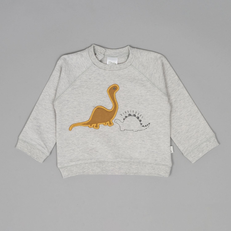 Colloky Poleron Dinosaurios Plpo3711 Gris Sudaderas y ropa deportiva