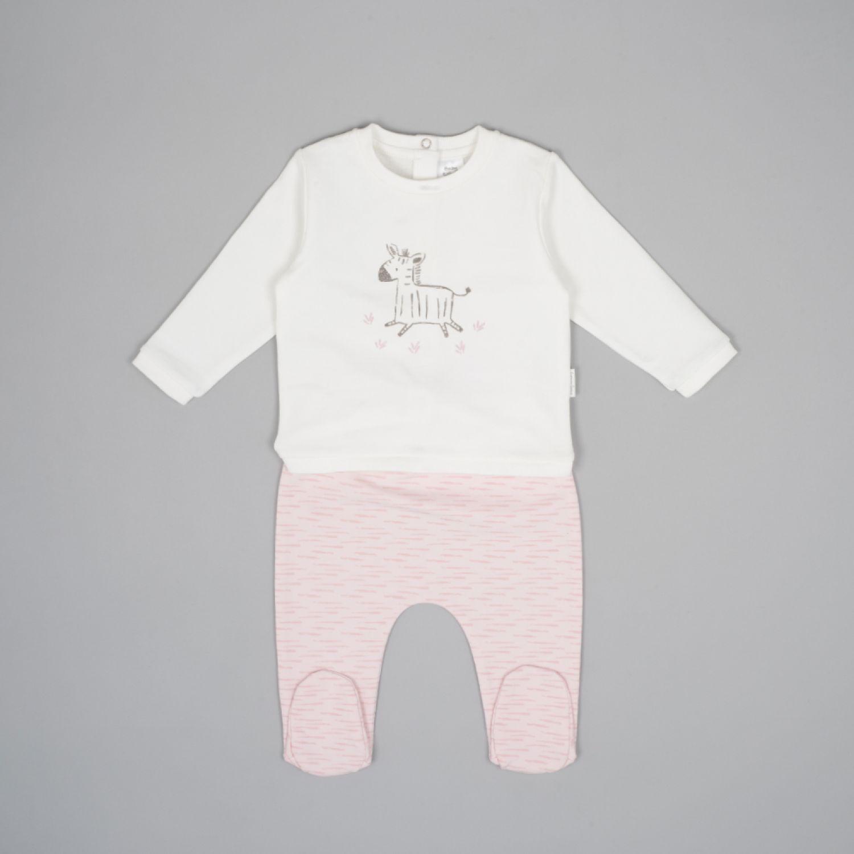 Colloky Conjunto Cebra Oepo0230 Rosado Juegos de Ajuar para Bebé
