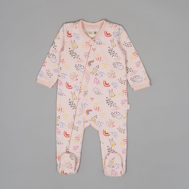 Colloky Pijama Enterito Franela Diseño Conejo Pjpo0630 Rosado Pañaleros