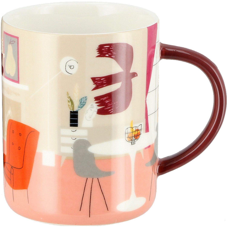 Casaideas mug decal alto 350ml MULTICOLOR Las tazas de café y tazas