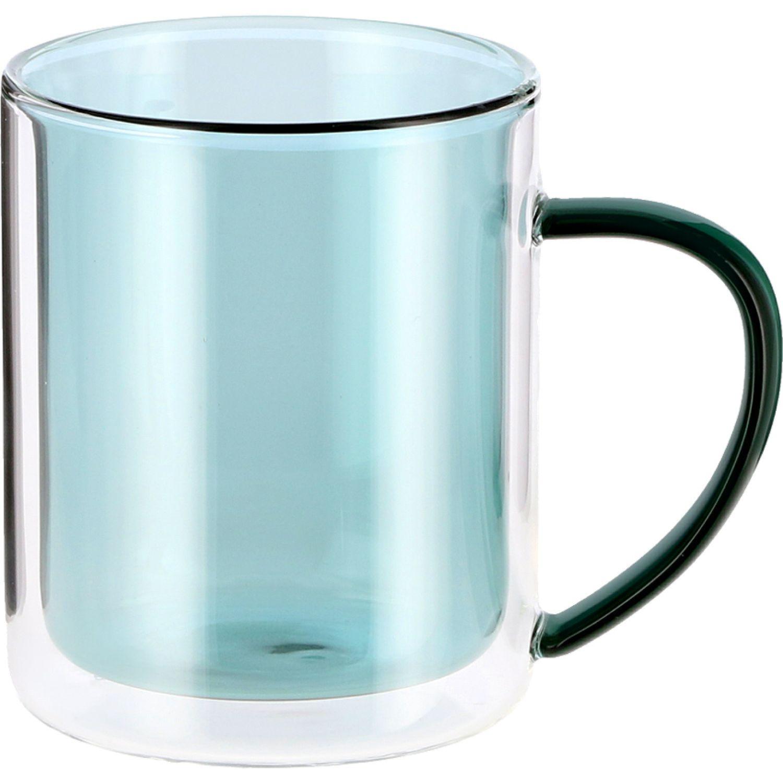 Casaideas mug vidrio color 33ml Celeste Las tazas de café y tazas