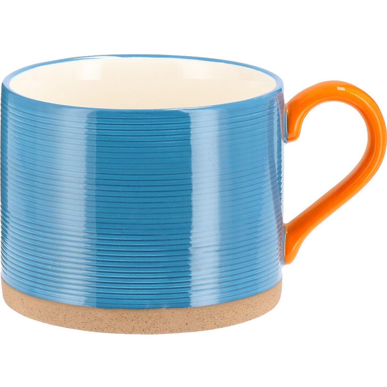 Casaideas mug engraved lineas azul Azul Las tazas de café y tazas