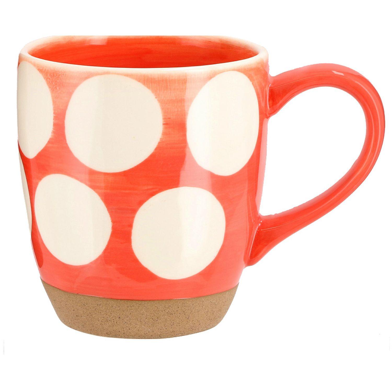 Casaideas MUG PINTADO GRES CURVO NARANJA Naranja Las tazas de café y tazas