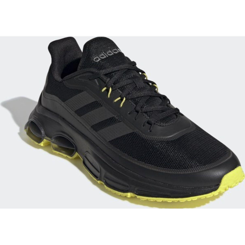Adidas Quadcube Negro Running en pista