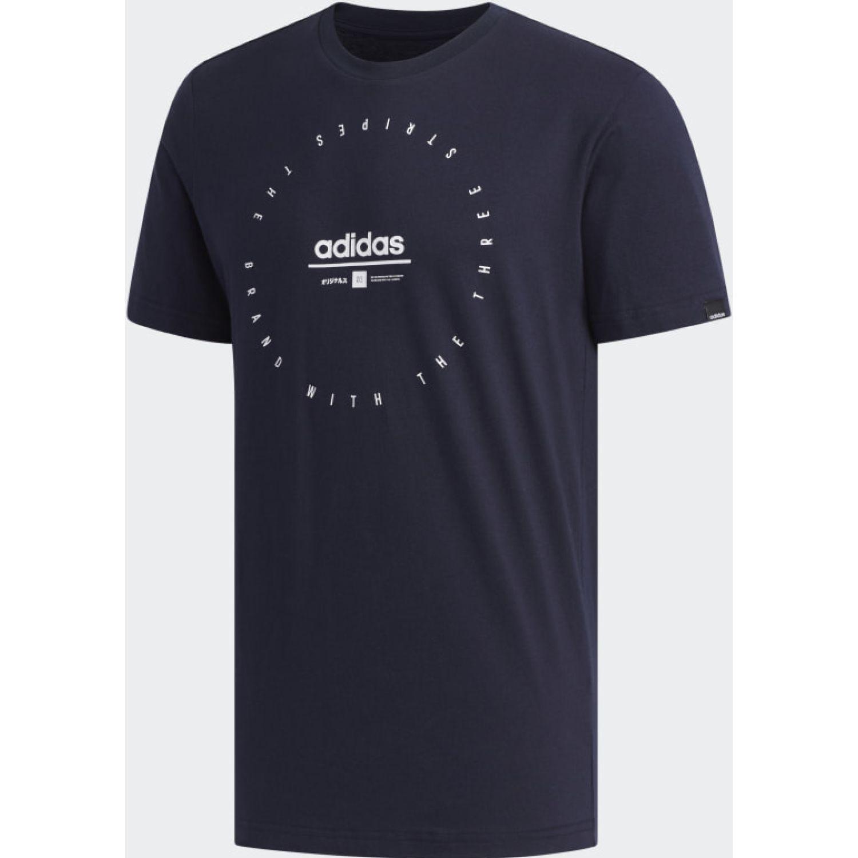 Adidas M Adi Clk T Plomo Camisetas y polos deportivos