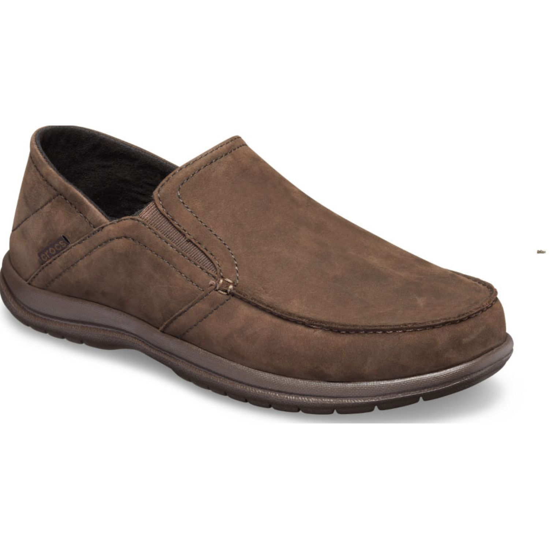 CROCS Men'S Santa Cruz Convertible Leather Café Mocasines y slip-ons