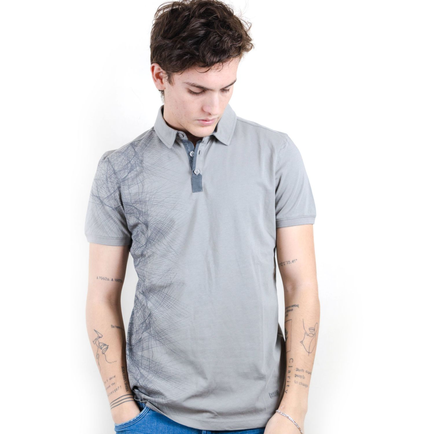 ROCK & RELIGION Forest Grey Polos
