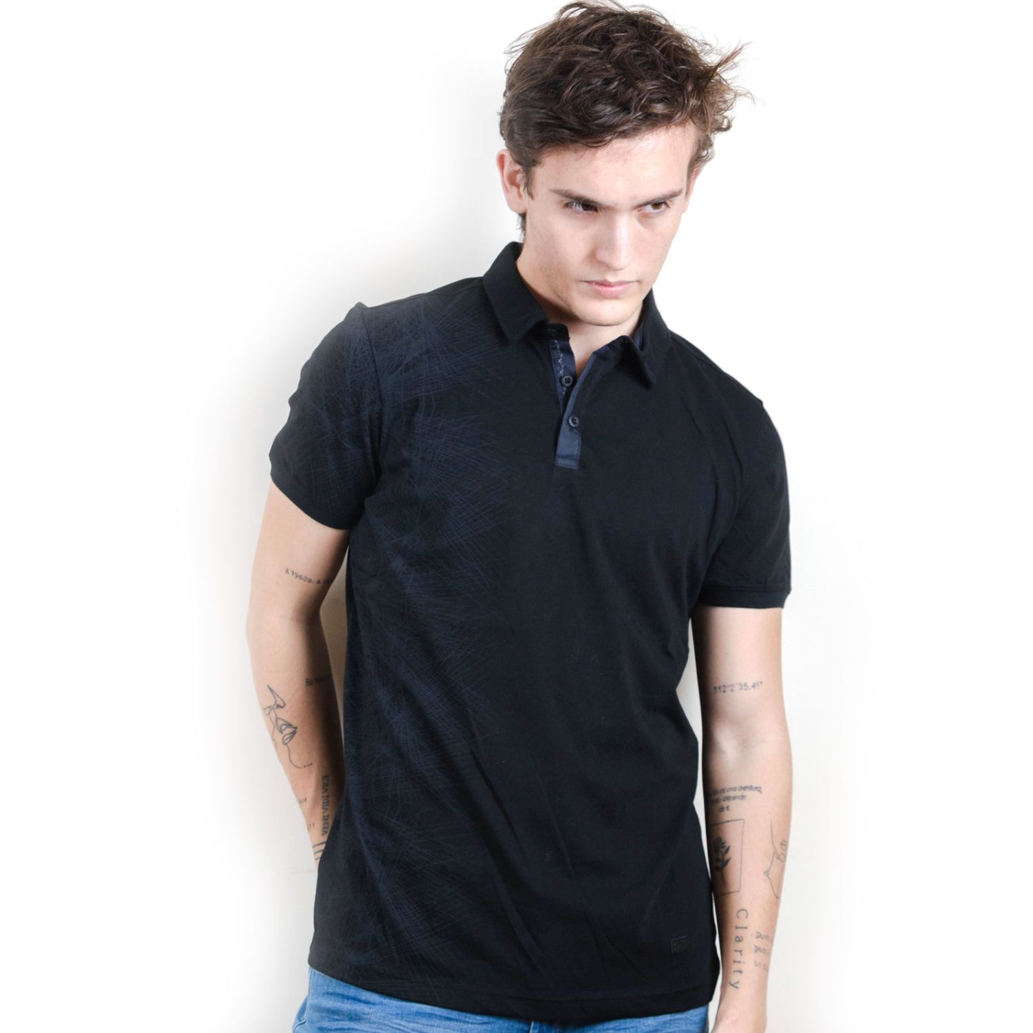 ROCK & RELIGION FOREST Negro Polos