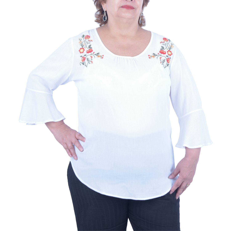 Andoas Clothing Blusa Lady Blanco Blusas y camisas con botones