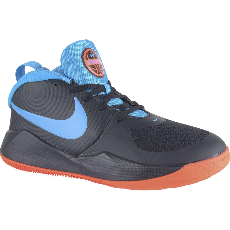 Nike Team Hustle D 9 Gs Negro / celeste Niños