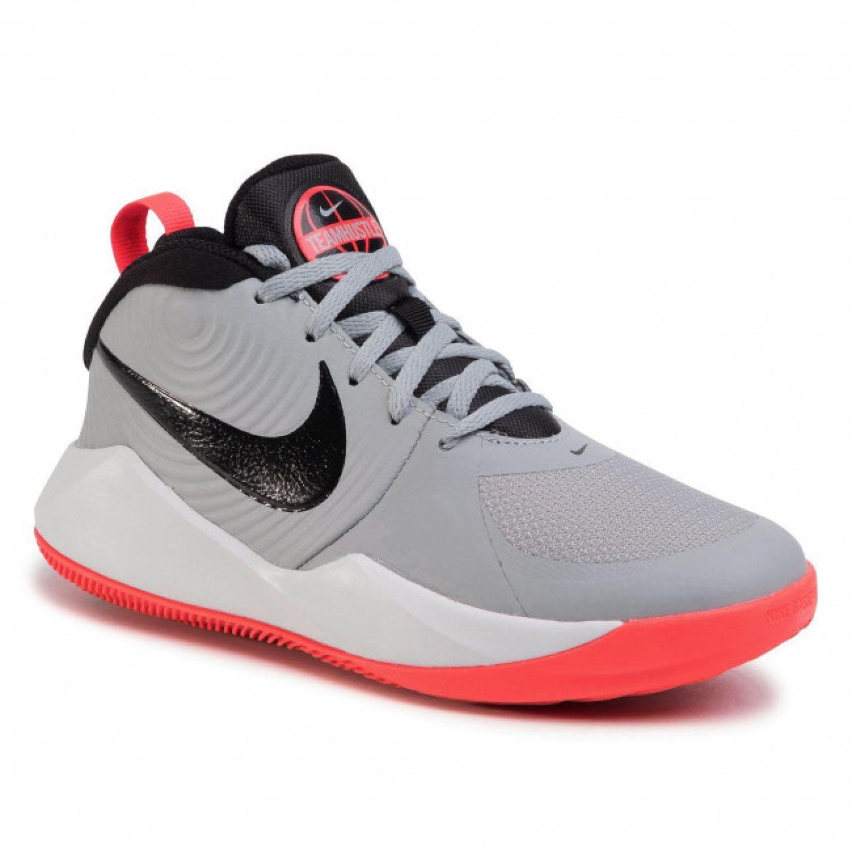 Nike team hustle d 9 gs Gris / rosado Muchachos