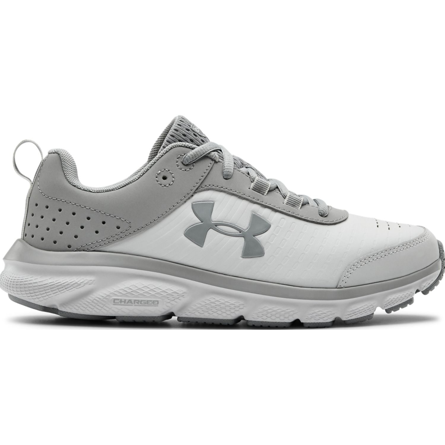 Under Armour Ua W Charged Assert 8 Ltd BLANCO / PLOMO Running en pista