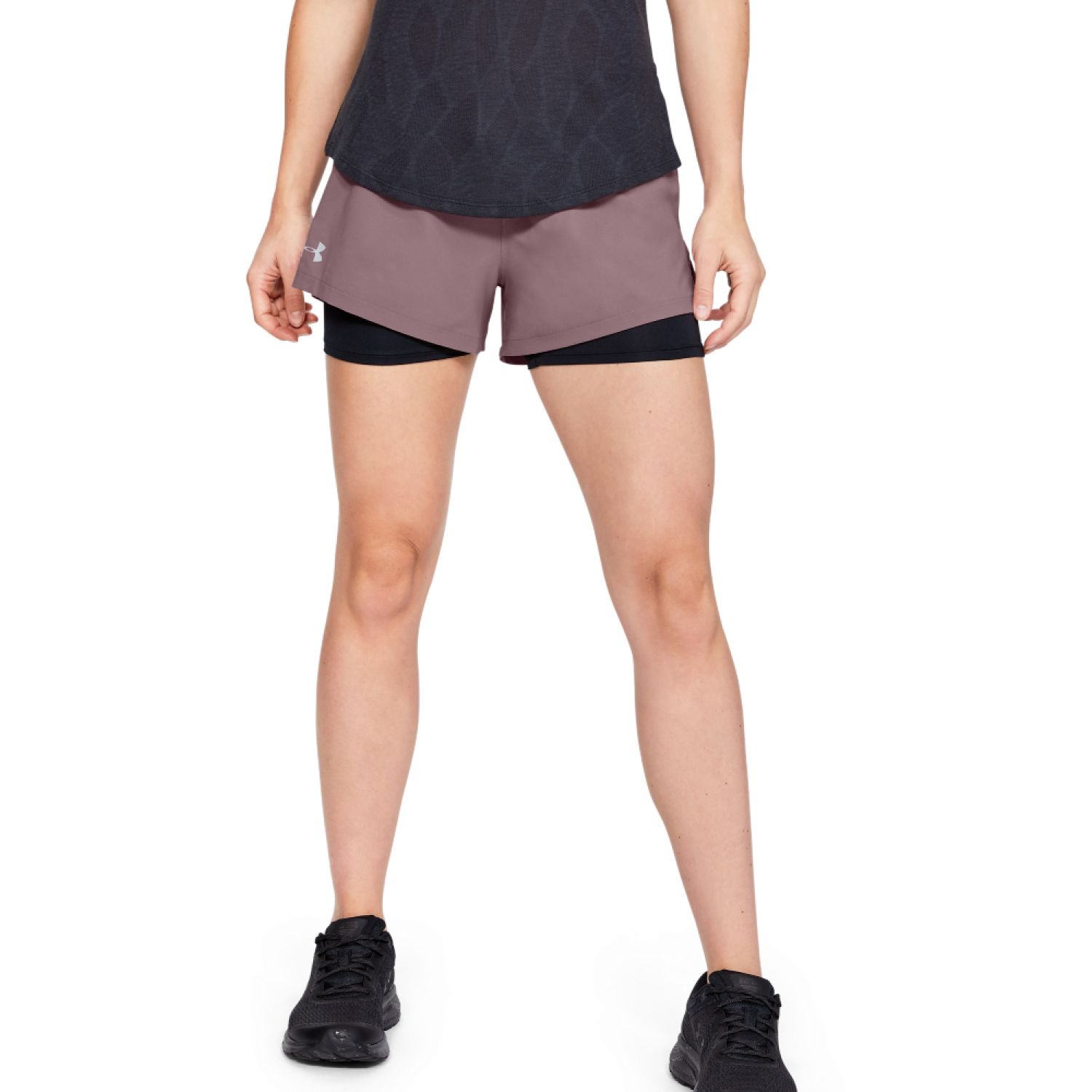 Under Armour UA Launch SW 2-in-1 Short Rosado Shorts Deportivos