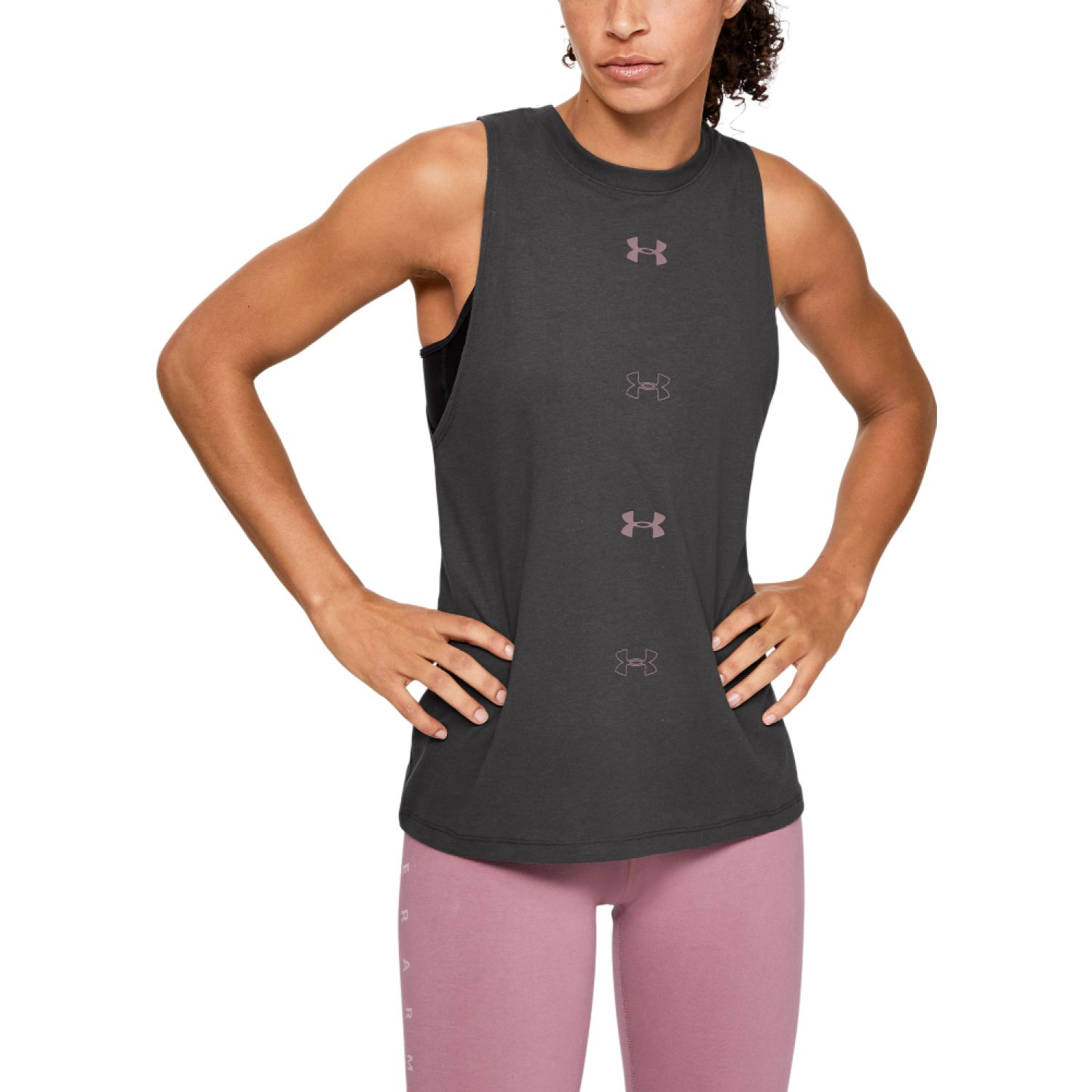 Under Armour Ua Graphic Muscle Sl 6m Gris Tank Tops