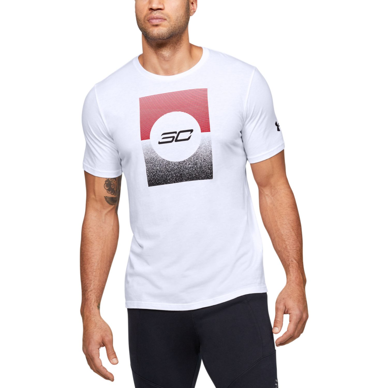 Under Armour Sc30 Gradient Graphic Tee Blanco Camisetas y Polos Deportivos