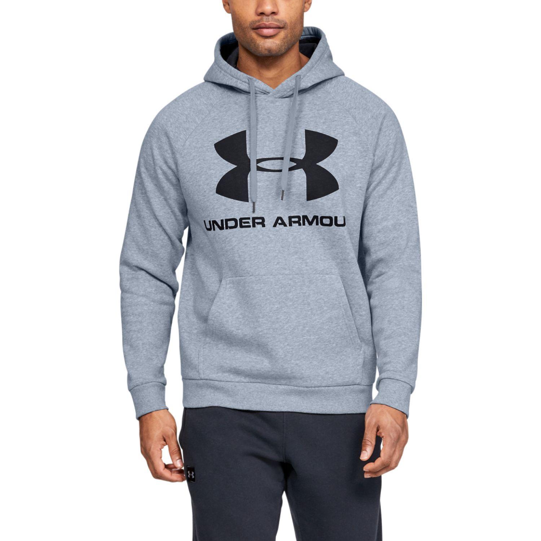 Under Armour Rival Fleece Sportstyle Logo Hoodie Plomo Hoodies deportivos