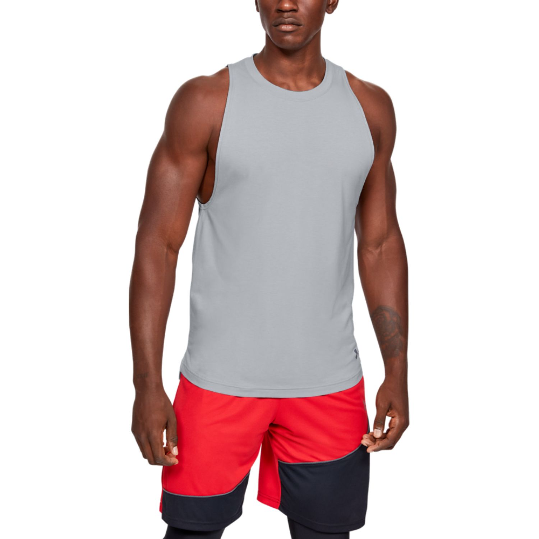 Under Armour Ua Baseline Cotton Tank Plomo Camisetas y polos deportivos