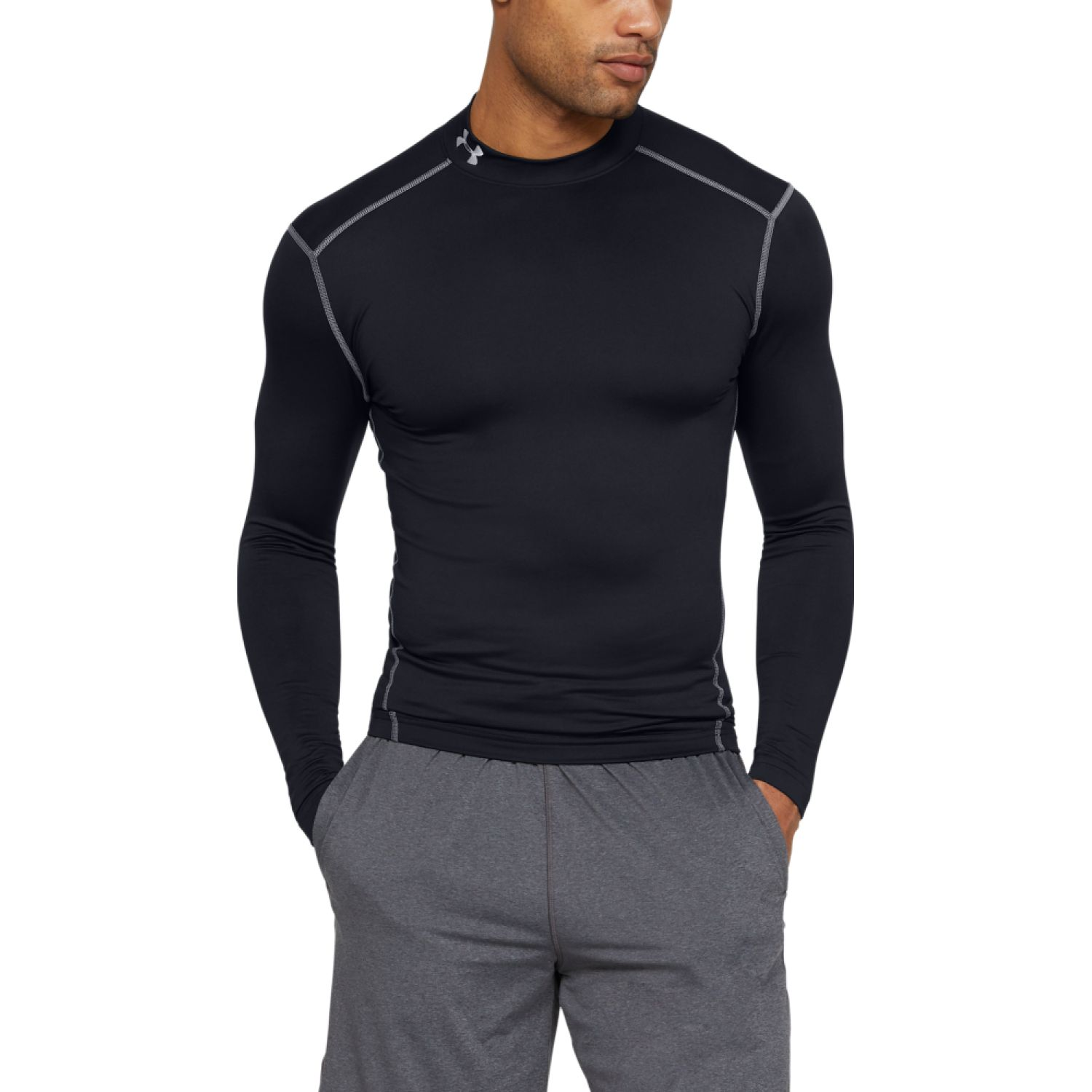 Under Armour UA CG ARMOUR MOCK Negro Polos