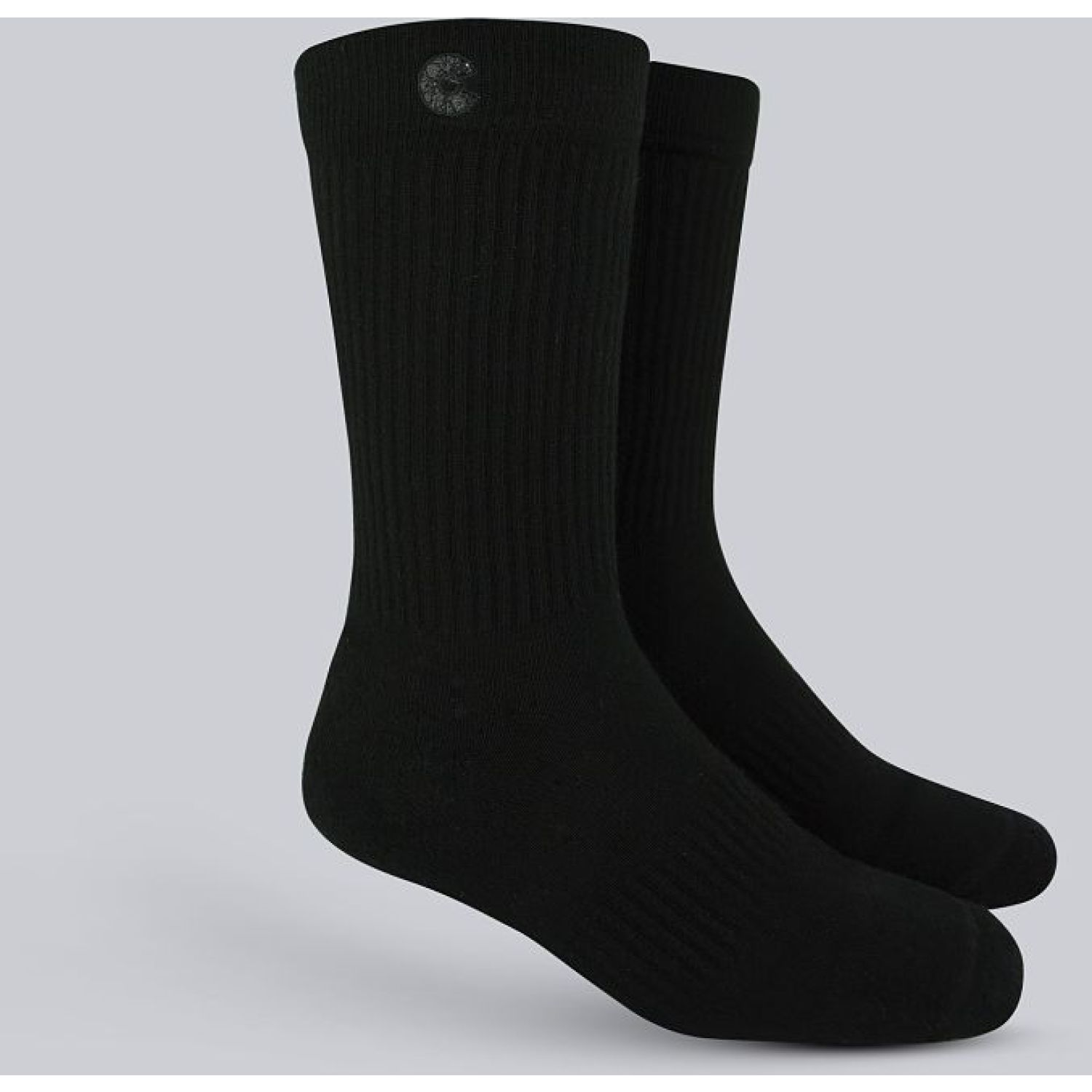 Cheese Socks Crew Full Black Negro Calcetines