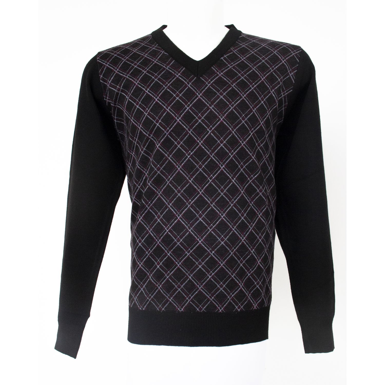 Donatelli Chompa Moda Diseño Negro Jerseys